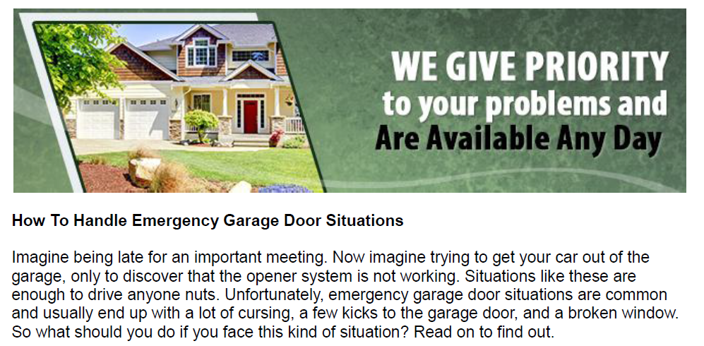 How To Handle Emergency Garage Door Situations - Garage Door Repair Mesquite
